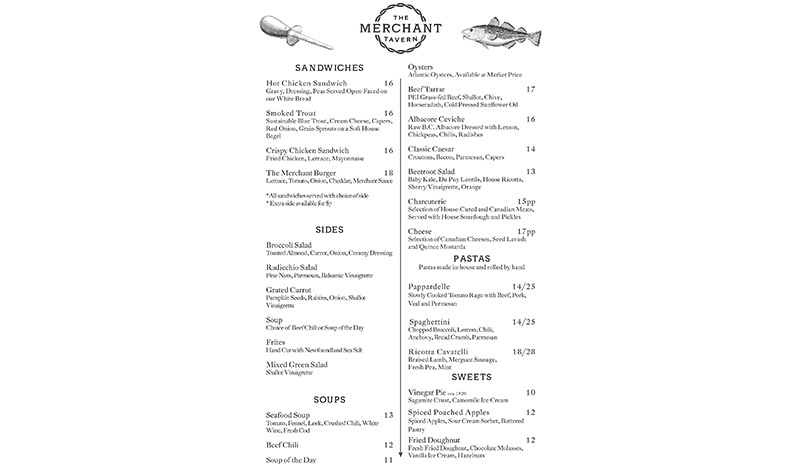 Lunch Menu